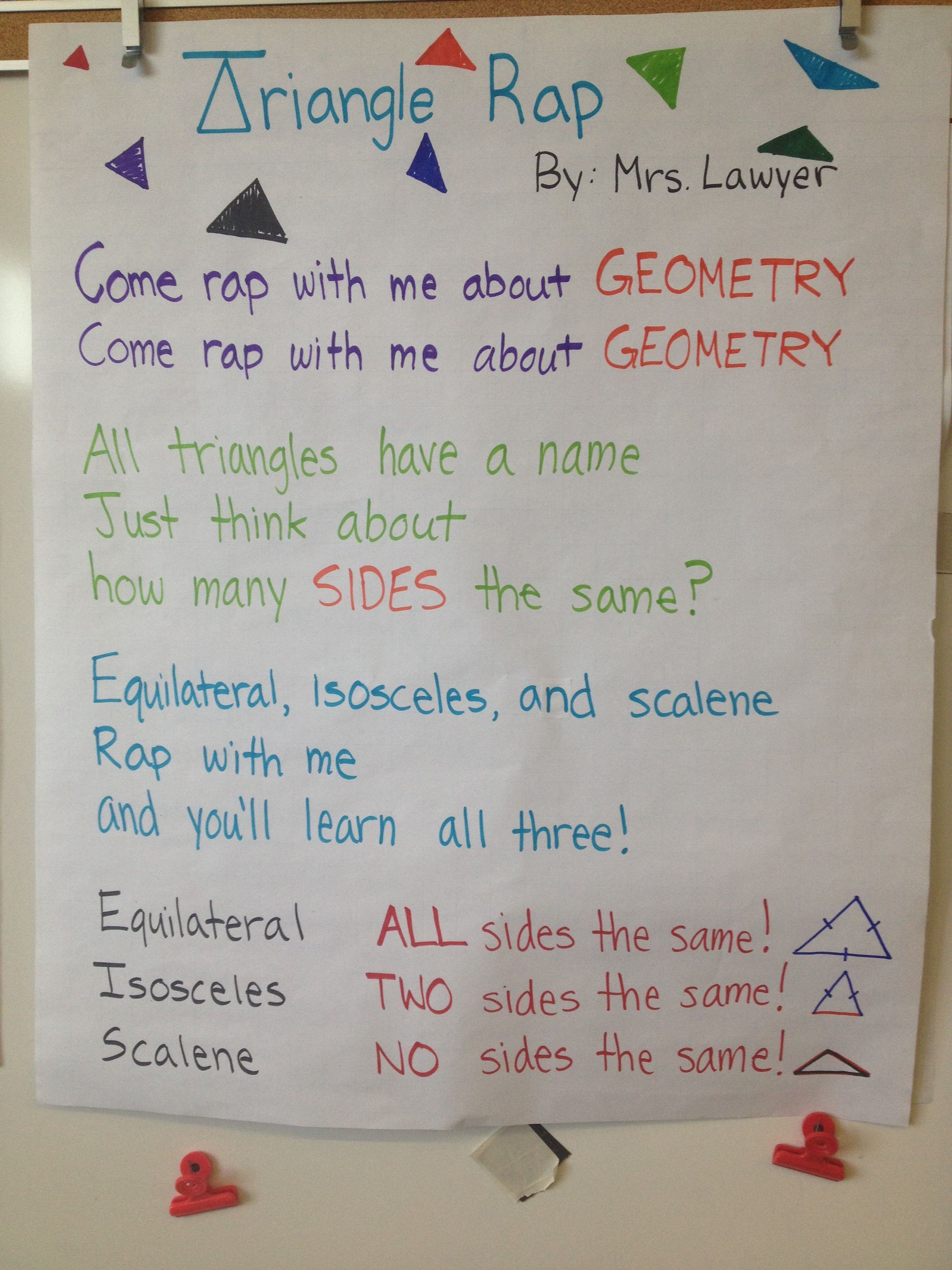 Triangle Rap For Equilateral Isosceles And Scalene