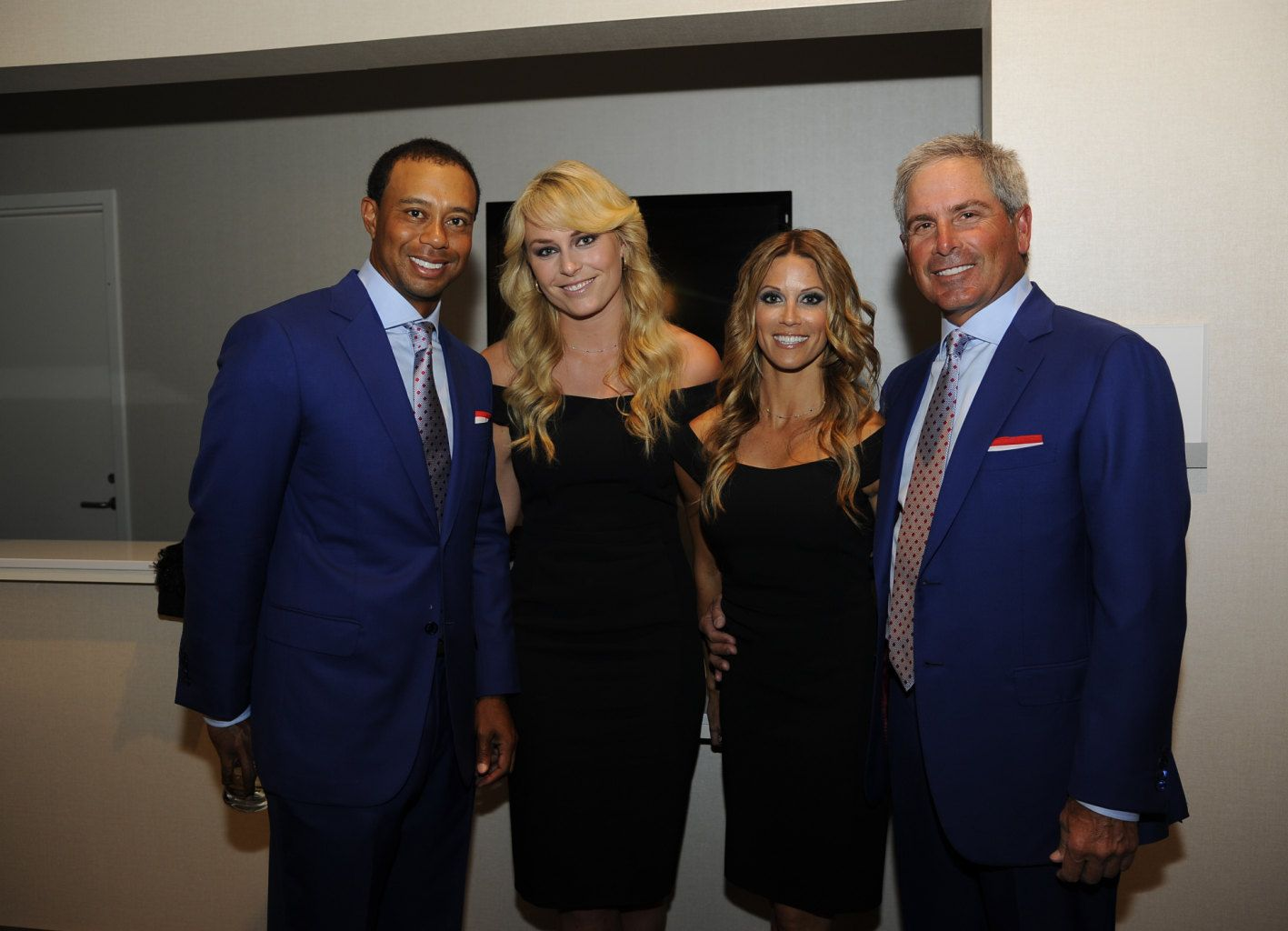 Tiger Woods Lindsey Vonn Nadine Moze And Fred Couples Of The Us