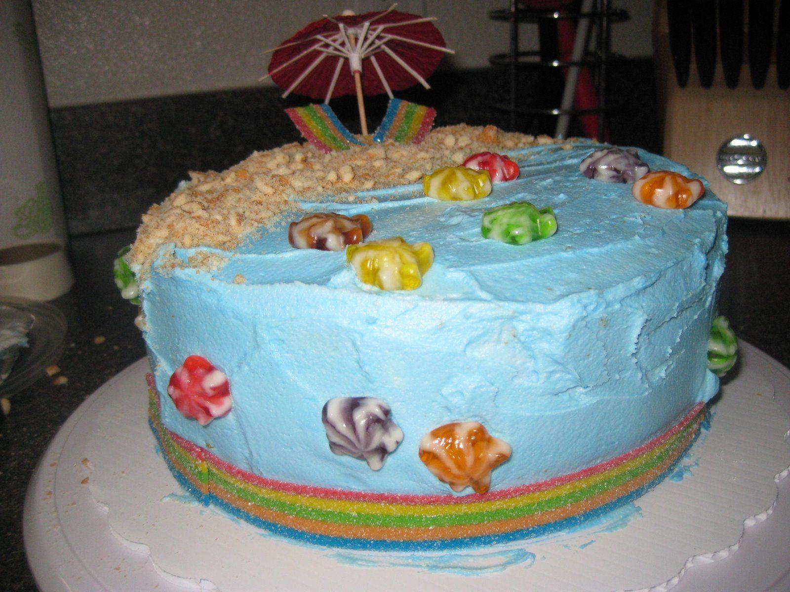 Beach party cakecupcakes party cakes cake beach party