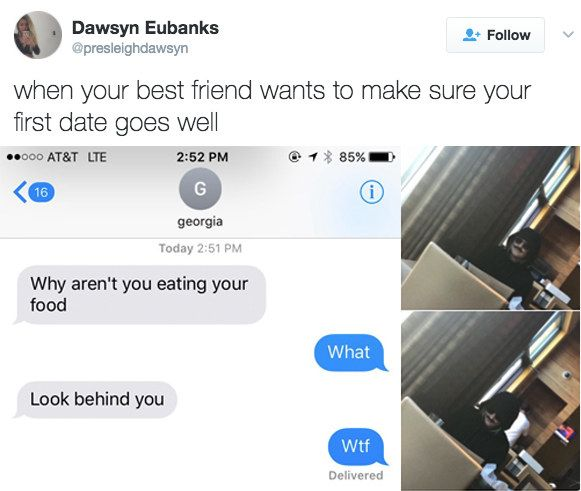 When your BFF proves they'll always have your back, no matter how weird the situation is.