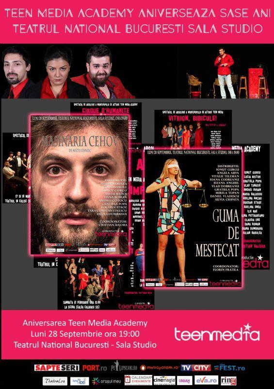 Luni, 28 Septembrie 2015, ora 19:00, Teatrul National I.L.Caragiale Bucuresti ( Sala Studio ), Bucuresti