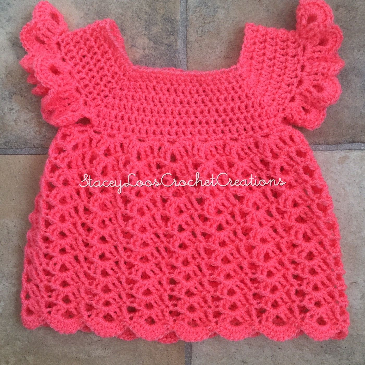 Crochet Dress, Toddler, Beautiful Dress, Smock Top, Overtop, Over Top, Handmade by LoosCrochetCreations on Etsy
