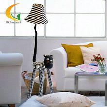 Creatieve cartoon doek star meow indoor floor lamp voor decoratie ...