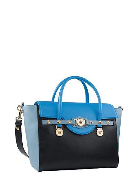 556a1fa021 A blue colour blocked Versace Signature Bag