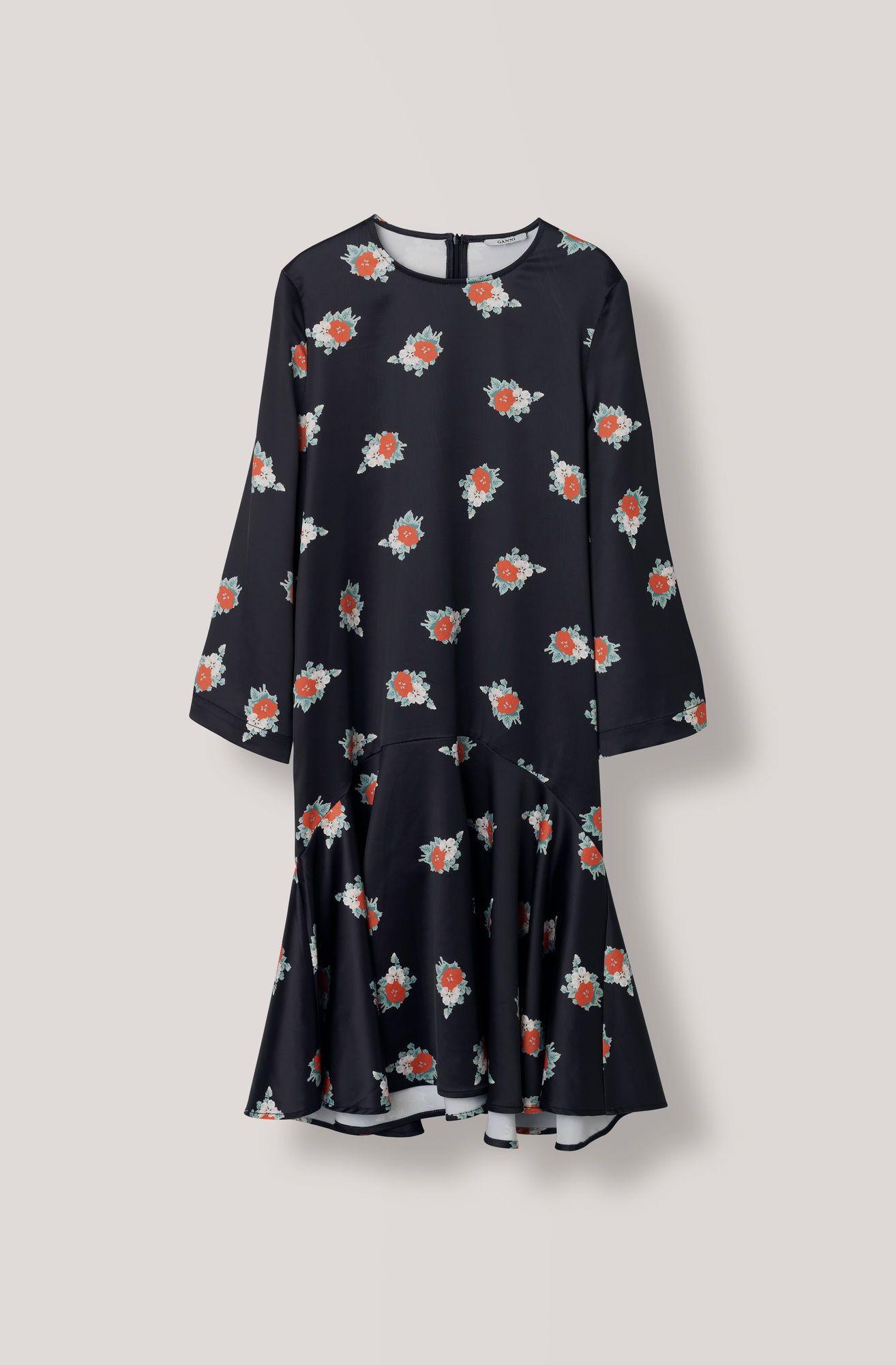 e508b3e3 Glenmore Dress, Black | Floral | Dresses, Sleeves, Casual dresses