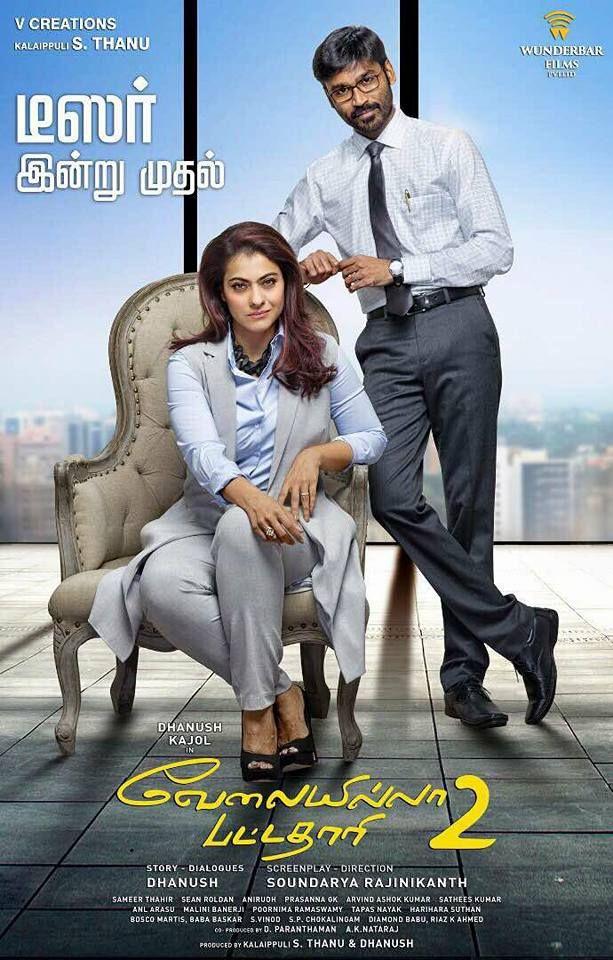 Velaiilla Pattadhari 2 Poster In 2020 Full Movies Download Download Movies Full Movies Online Free