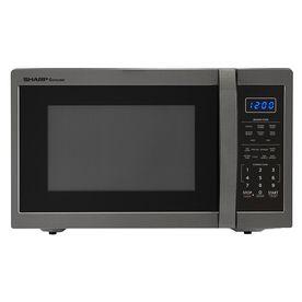 Sharp 1 4 Cu Ft 1 100 Watt Countertop Microwave Black Stainless Steel Smc1452ch Countertop Microwave Microwave Oven Countertop Microwave Oven