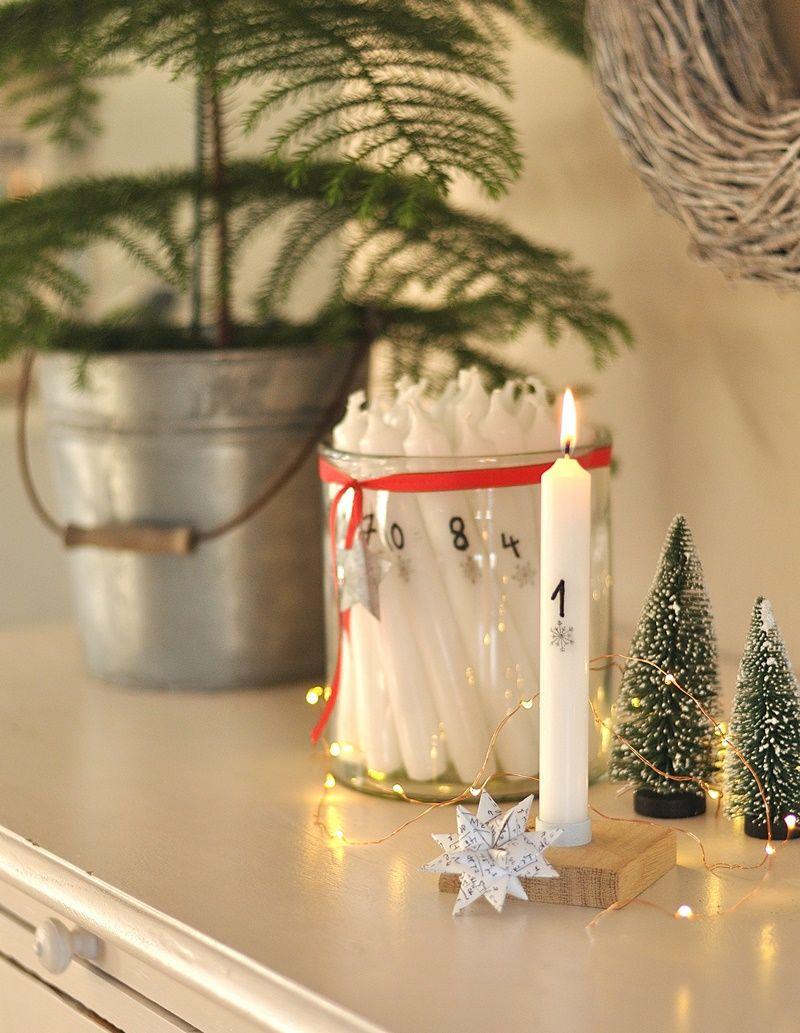 Adventskerzen Mit Zahlen Diy Advent Kerzen Adventskerzen Und Kerzen