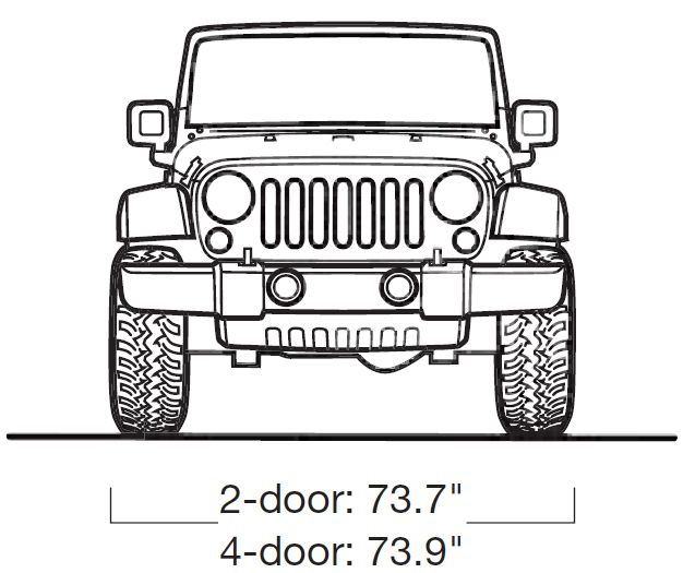 jeep wrangler 2018 side view