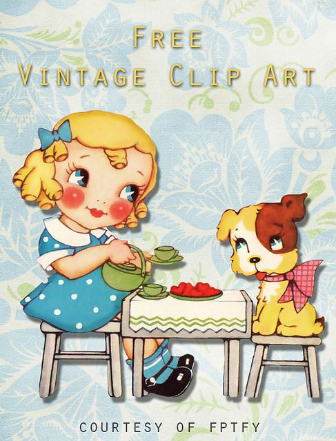 Free Vintage Clip Art: You're My Cup of Tea   PRINTability