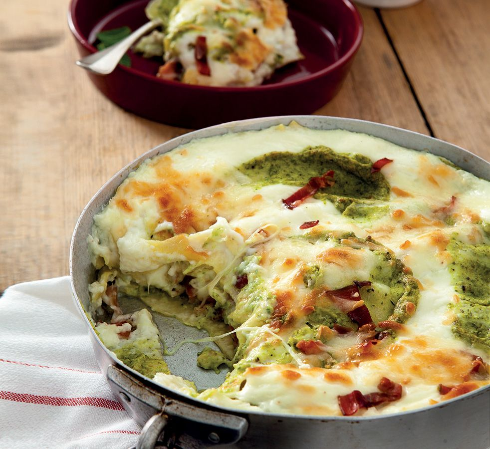 Ricetta lasagne con pesto di zucchine speck e scamorza la cucina italiana ricette news - La cucina italiana ricette ...