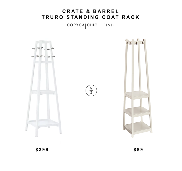 Daily Find Standing Coat Rack Crate Barrel White Coat