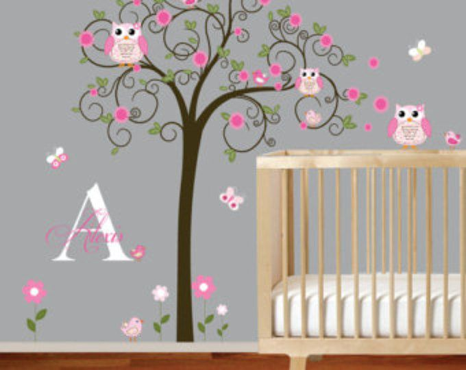Decalcomanie Da Muro Su Vinile Wall Decal Nursery Bambini Parete Decalcomania Baby