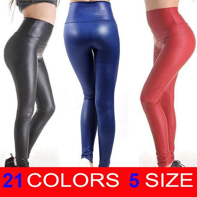 0ae2b06acb Free shipping 2017 New Fashion women\'s Sexy Skinny Faux Leather ...