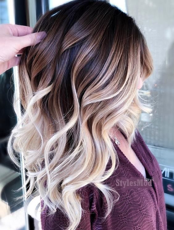 Brilliant Balayage Haarfarbe für 2019 #hairideas