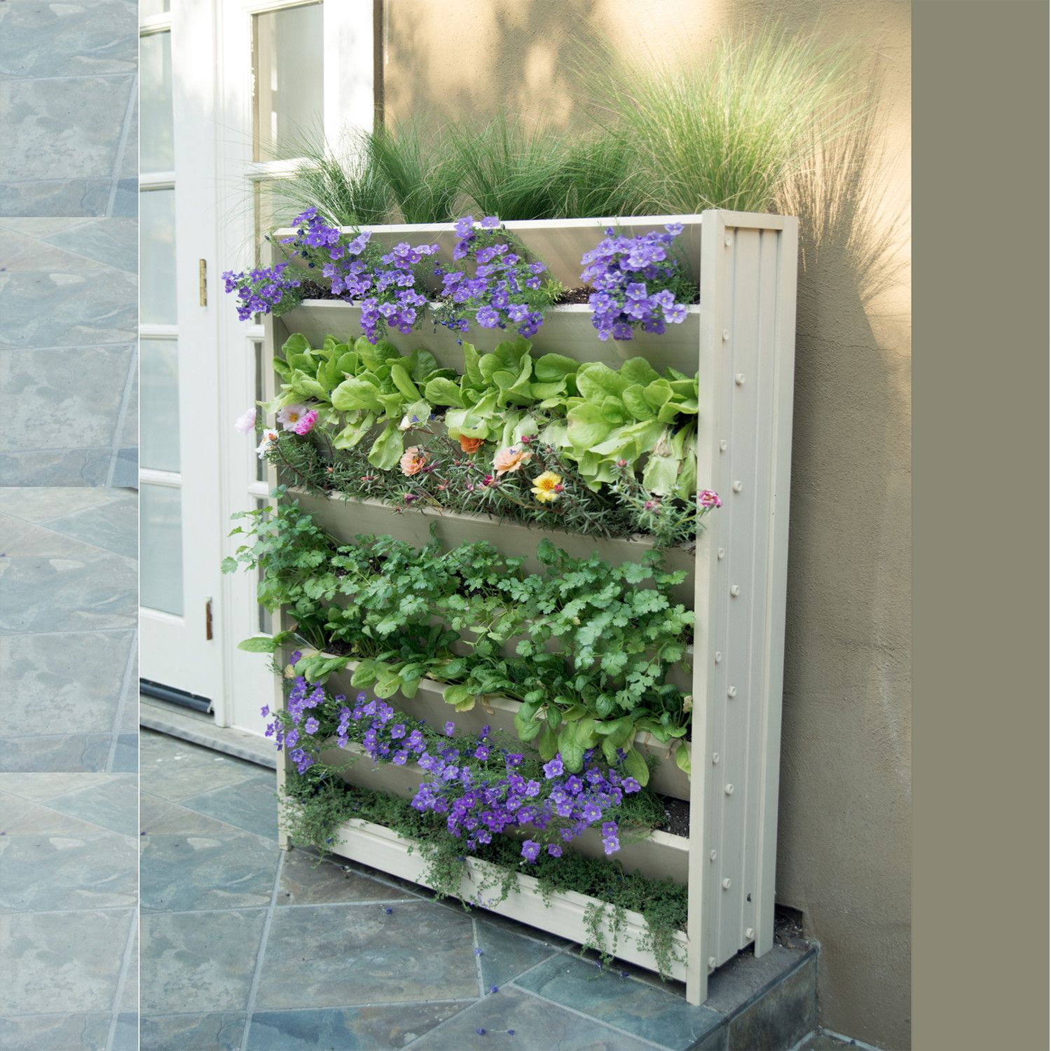 Features: -Indoor and outdoor use. -Vertical garden is designed to