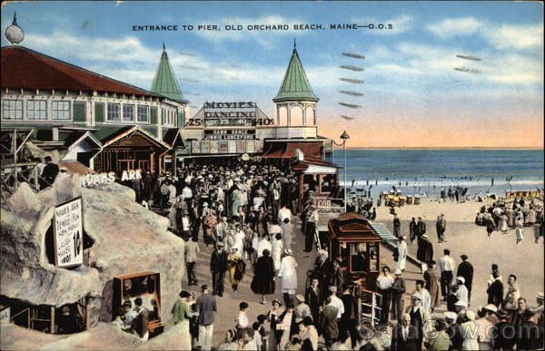 Entrance To Pier Old Orchard Beach Me