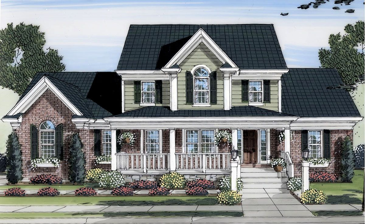 Plan 39122ST Lovely TwoStory Home Plan Colonial house