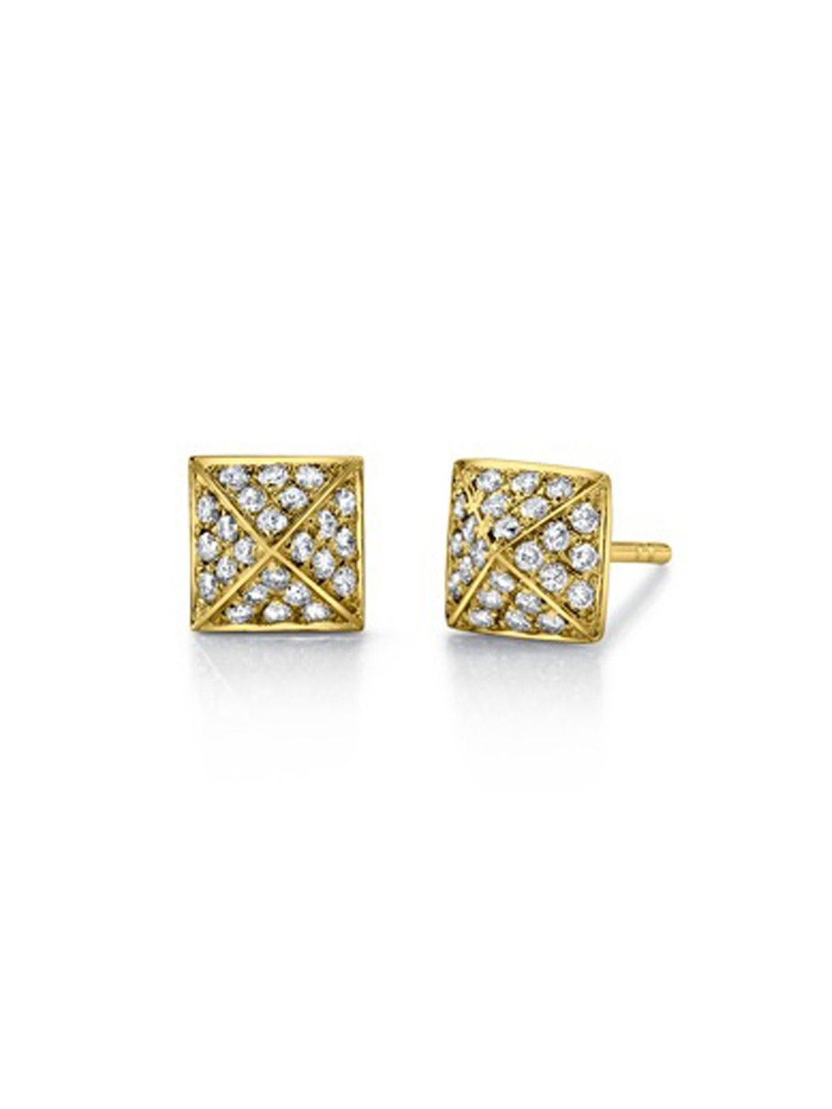 741a317b6 Anita Ko 18k Pave Diamond Small Spike Stud Earrings in Yellow Gold at  London Jewelers!