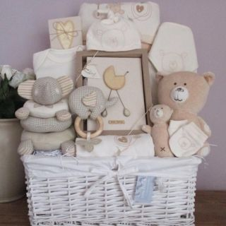 Baby Gift Basket, Baby Gift Hamper, boy & girl luxury newborn baby ...