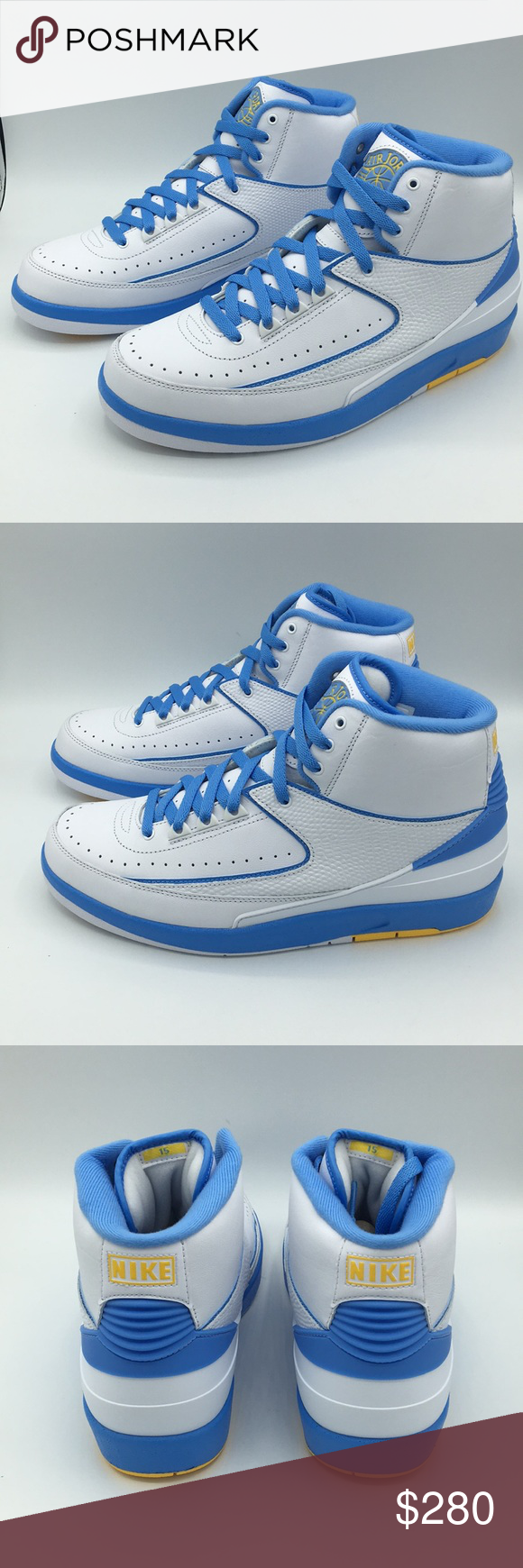 sports shoes 93027 bff12 Air Jordan Retro 2 Univ. Blue Carmelo Anthony Pair of Air ...