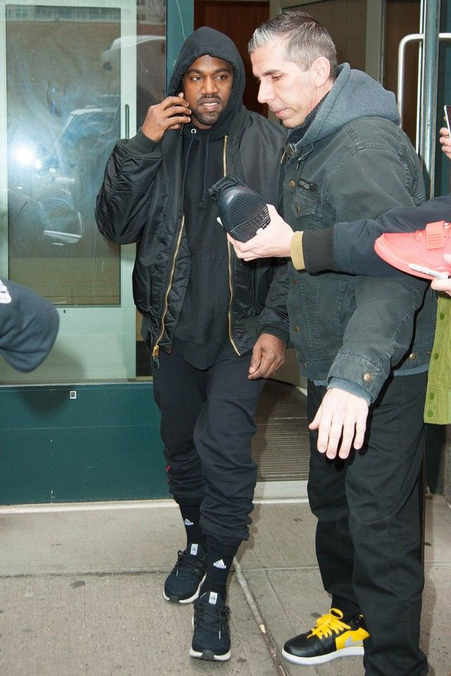 Kanye West wearing Alpha Industries MA-1 Flight Reversible Jacket 1b851bb4e