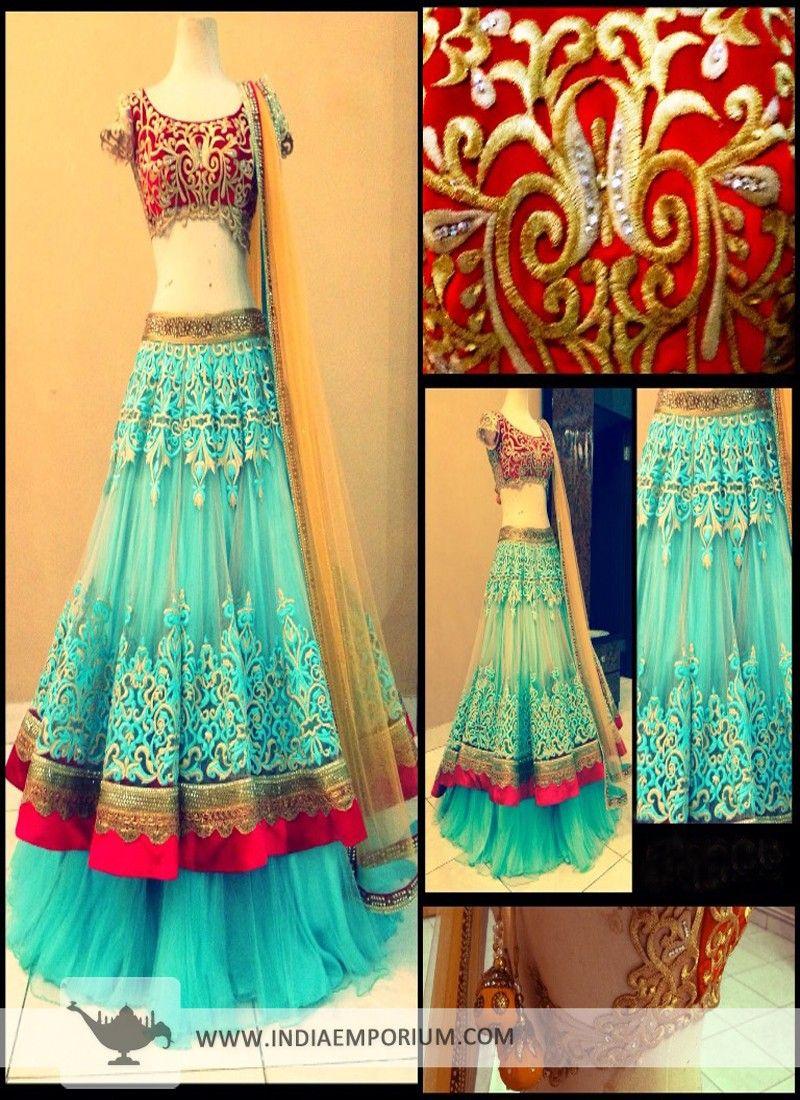 Turquoise lehenga choli indian bridals u lehengas pinterest