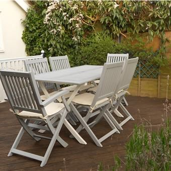 Superieur Tired Outdoor Garden Furniture Given A New Lease Of Life Using F Manor  House Gray And Wimbourne White On The Table Legs. This Project Took A Long  Time As ...