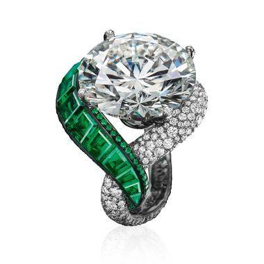 de Grisogono emerald and diamond ring