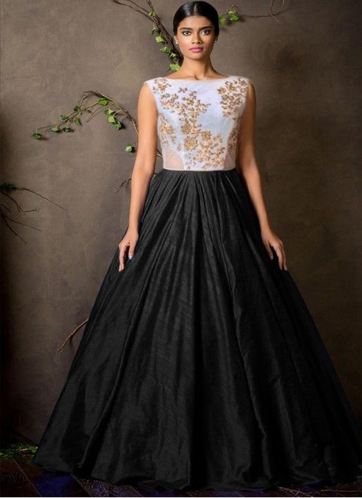0b071f7ad89 Ladies Flavour Present  Black  Gown Collection Online in India. Contact Us   +91-7046399899 Email Id   ladiesflavour1008 gmail.com