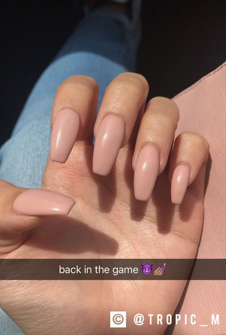 50+ Beautiful Nude Colour Nail Art | Color nails, Nail inspo and ...
