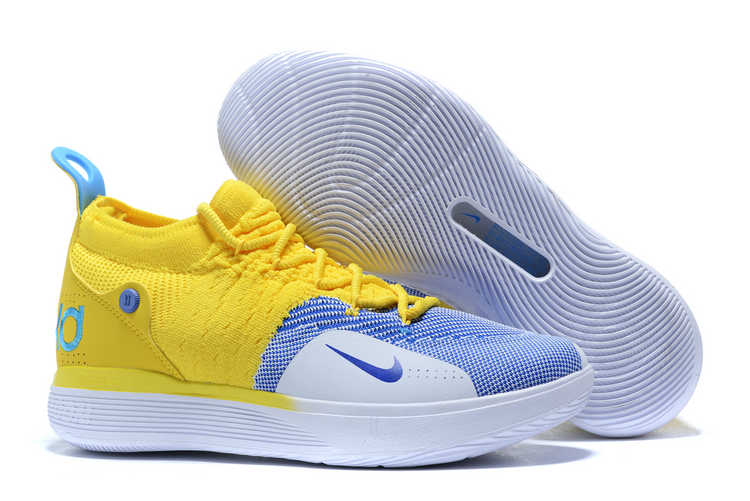2020 Nike KD 11 Yellow/Blue-White For
