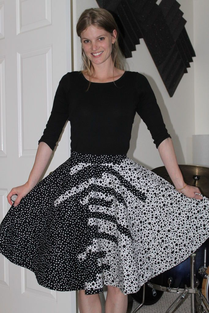 Two tone circle skirt tutorial