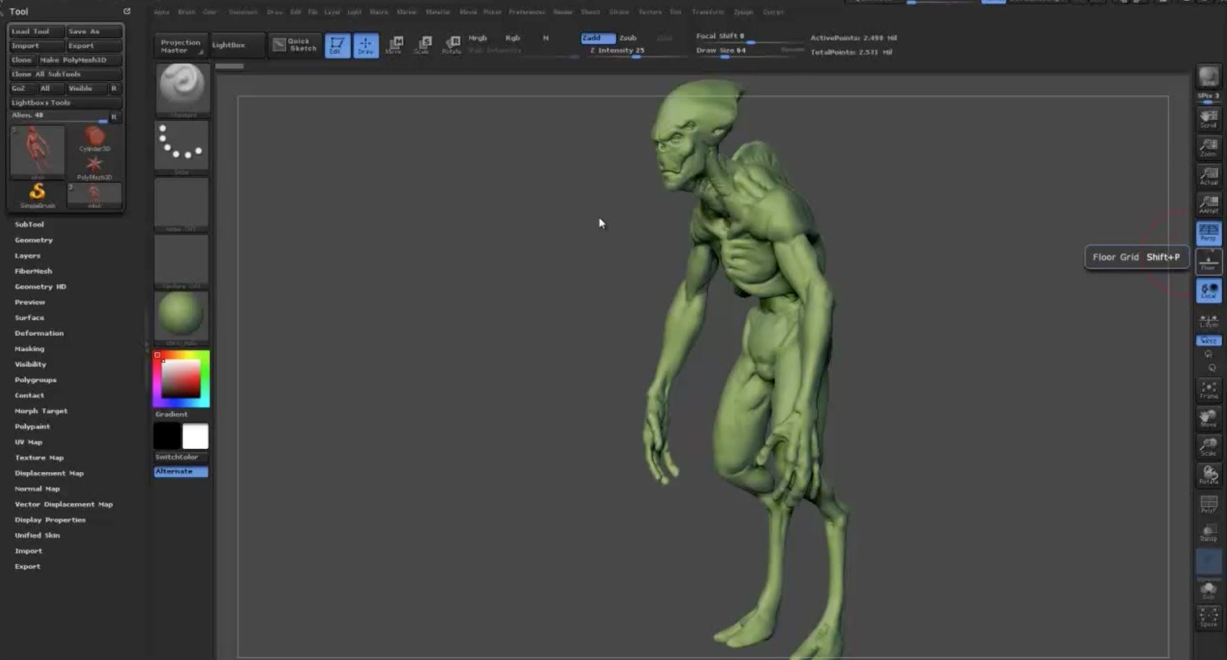 Zbrush Tutorial How To Do Retopology On A Dynamesh Sculpt Zbrush Tutorial Zbrush Digital Sculpting