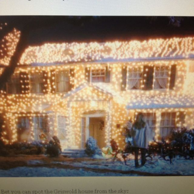Christmas Vacation House Lights.Griswold S Home In National Lampoons Christmas Vacation