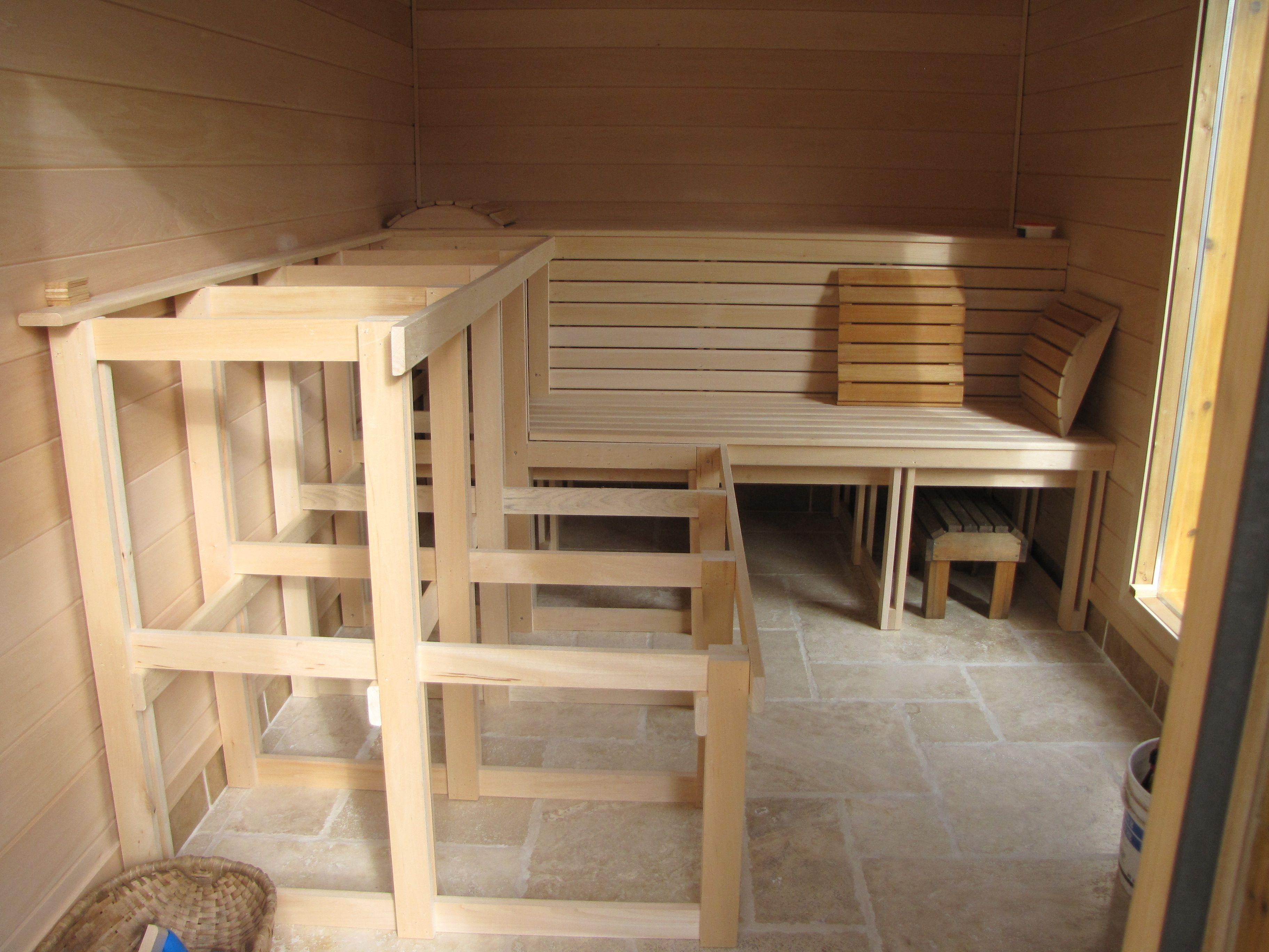 Little German Garden Sauna Benches 3 Bench Set Sauna Dream House
