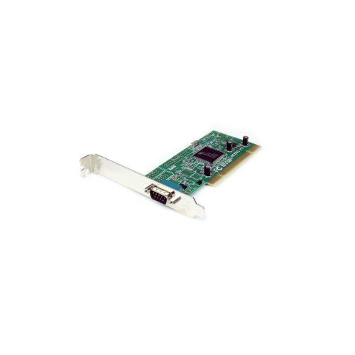 1 Port Serial PCI Card by StarTech. $24.98. This PCI Serial Card offers high performance 16950 UART channels/ports for connecting any new or legacy serial peripheral, with data transfer rates of up to 460kbps. A cost-effective solution for connecting serial modems, POS devices, printers, ISDN terminal adapters and more, the PCI serial card offers dual voltage support, allowing you to use a PCI (5V) or PCI-X (3. 3V) slot for installation. A versatile solution, the...