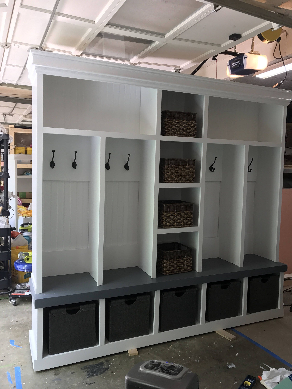 Entryway bench shoe storage organization mudroom hall tree coat