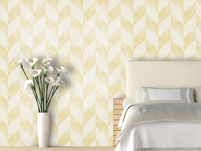 Swag Paper Distressed Yellow Chevron Temporary Wallpaper Pure Home Decor Home Removable Wallpaper