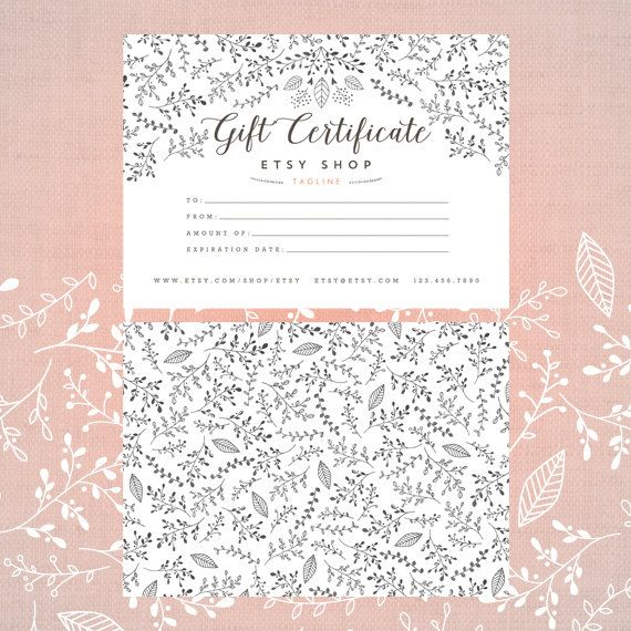 Custom gift certificate template secret garden collection custom gift certificate template secret garden collection botanical hand drawn by asamihasegawa yadclub Image collections