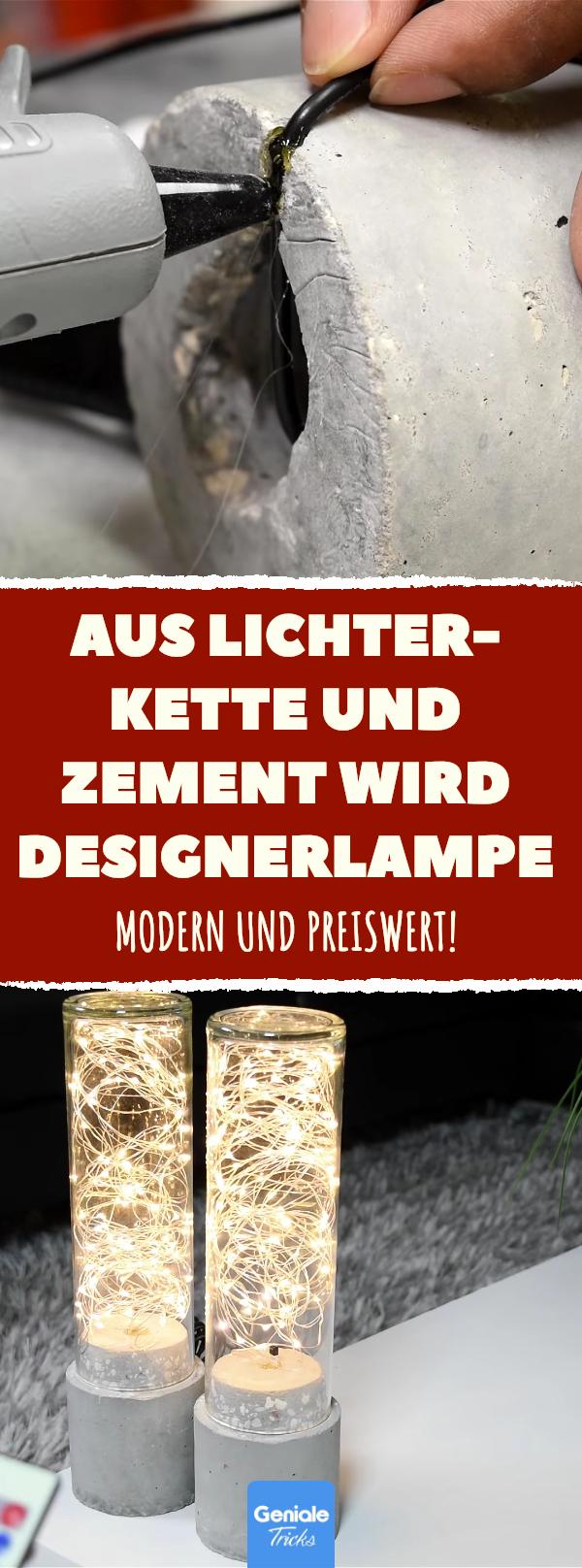 Photo of Einzigartige Gartenlampe aus Rohr und Zement.