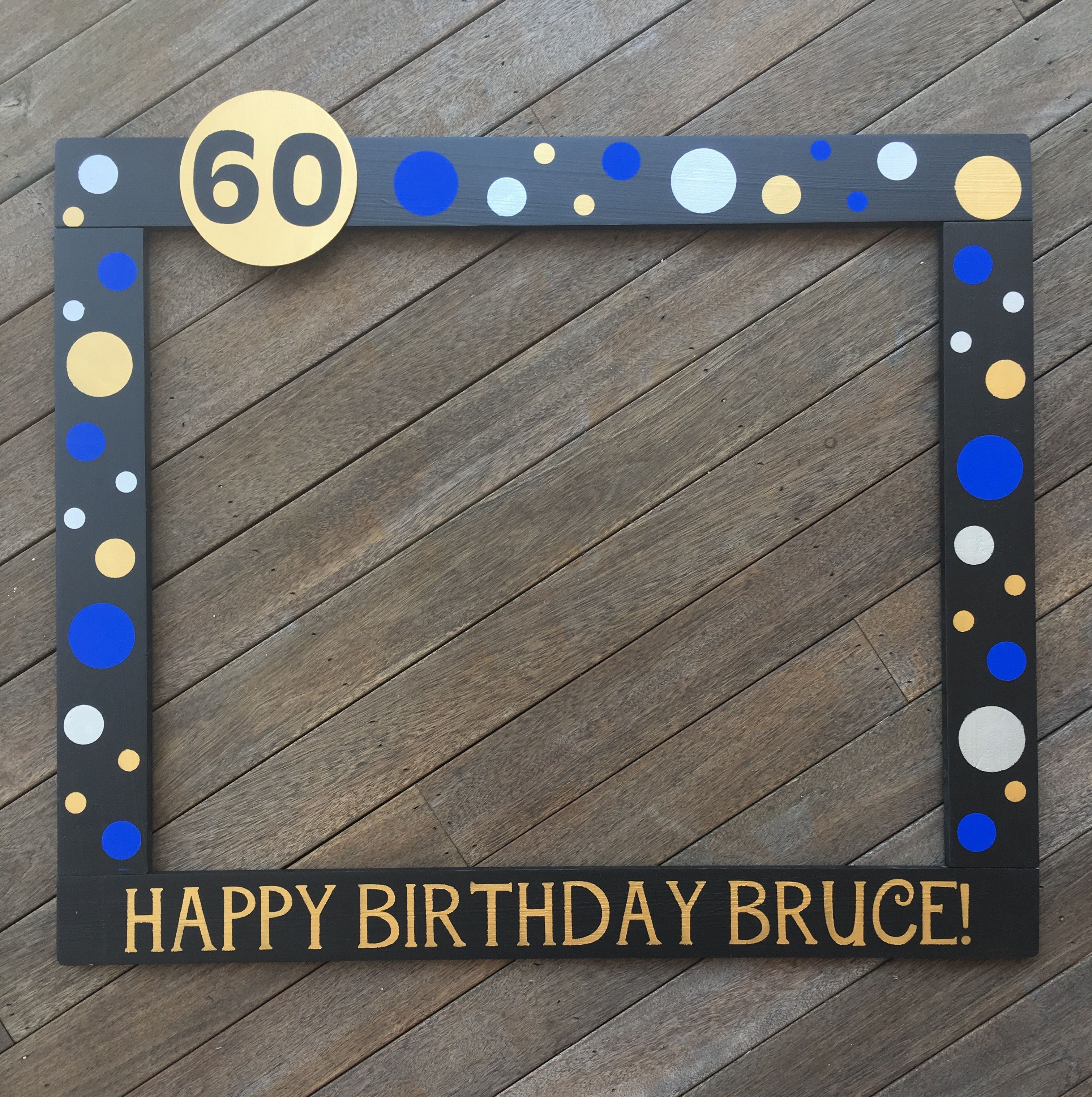 30th Birthday Photo Frame - 40th Birthday Photobooth - 50th Birthday ...