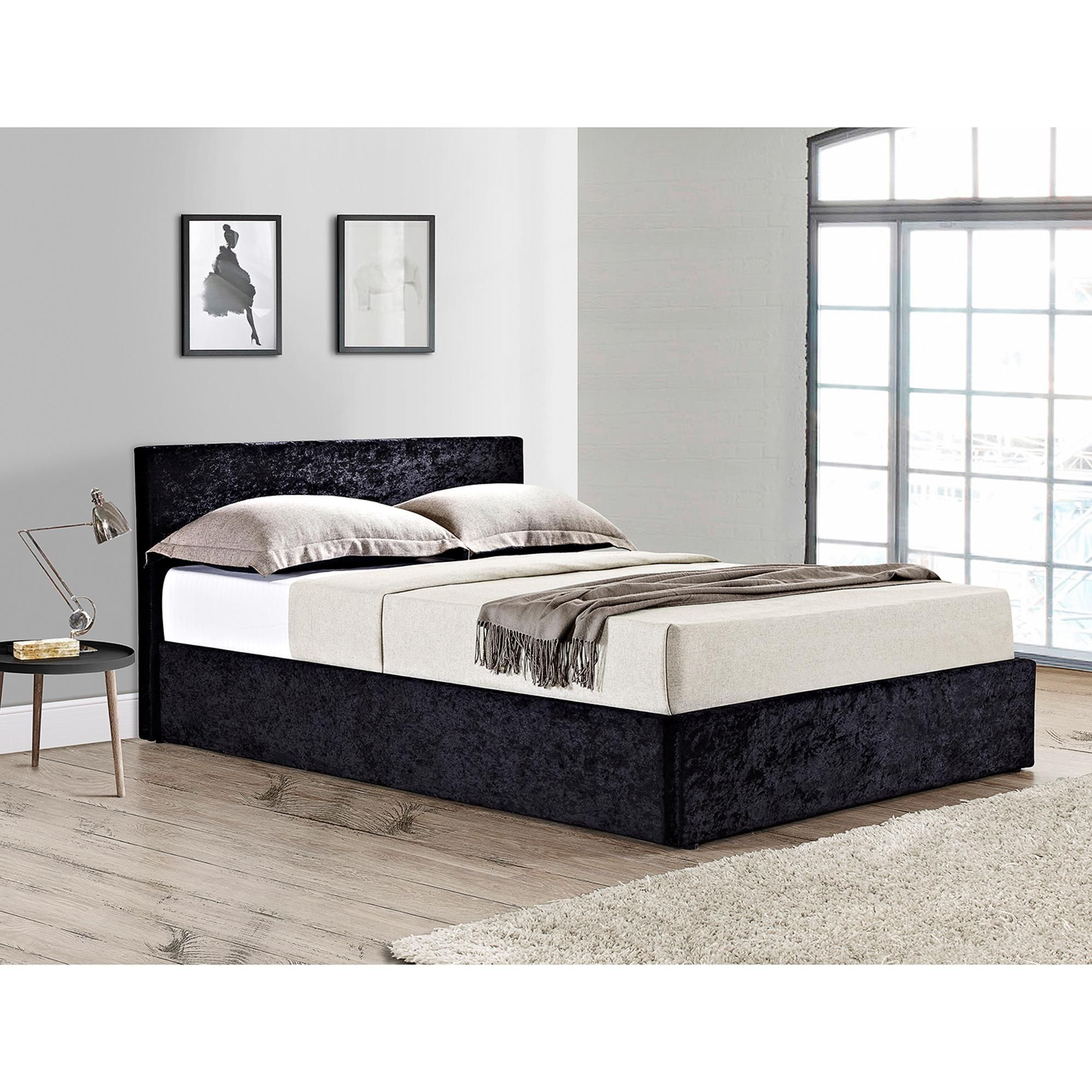 Berlin Crushed Velvet Ottoman Bed In 2020 Ottoman Bed Crushed