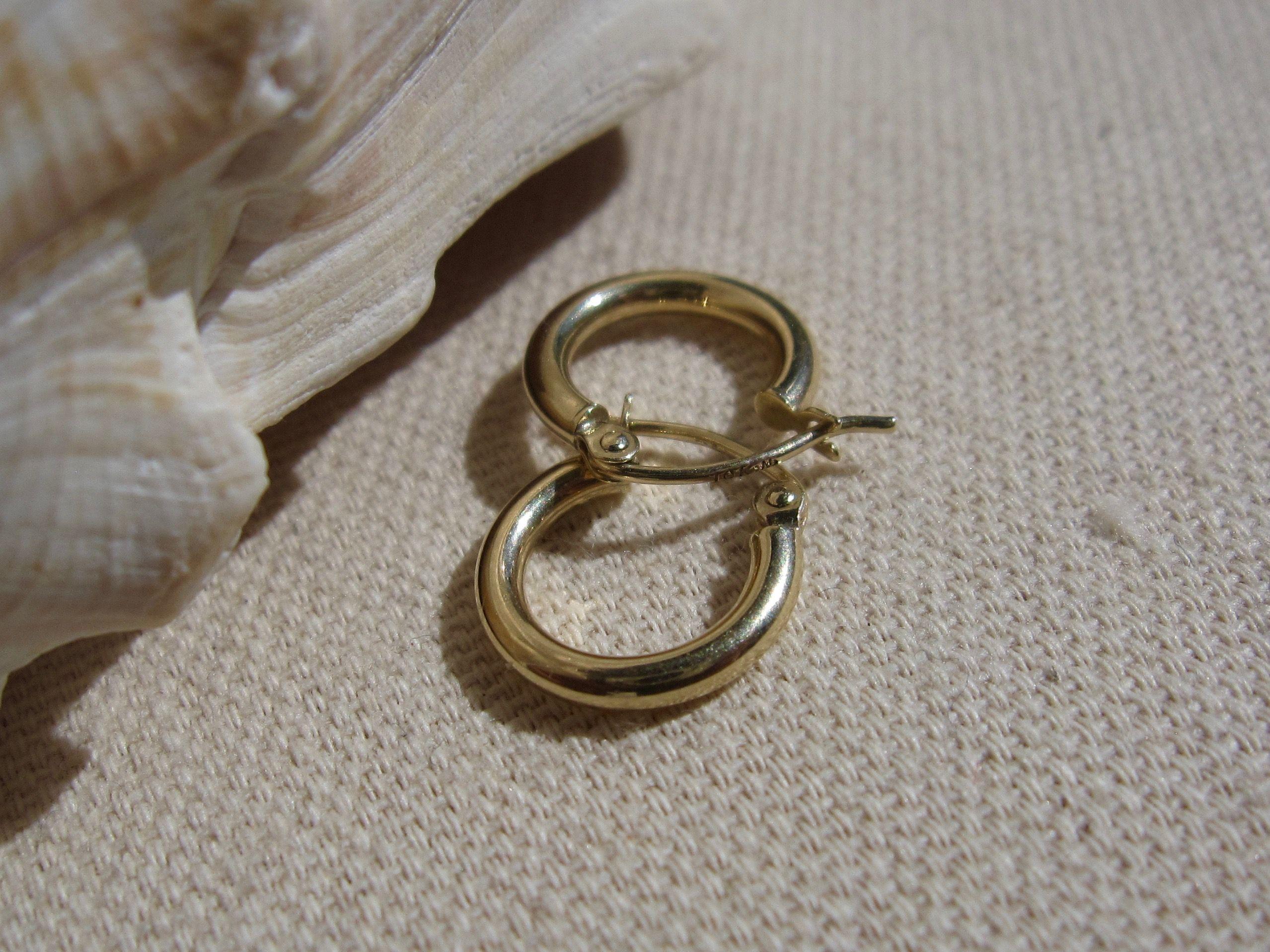 Medelln Earrings 10K Gold Hoops 10K Gold Earrings Gold Earrings