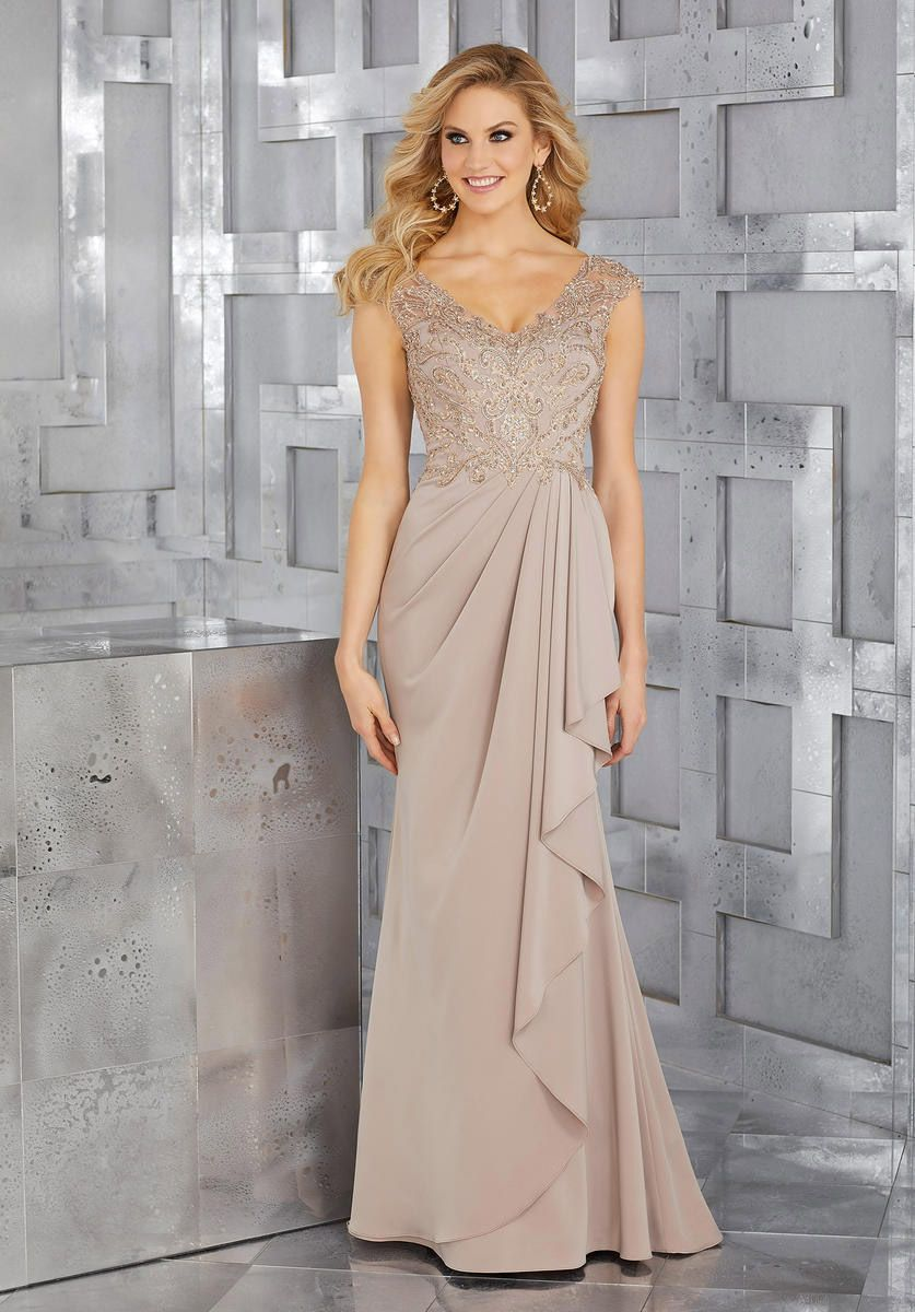b5192556062 Check out the deal on MGNY by Morilee 71617 MOB Gown with Beaded Embroidery  at French Novelty