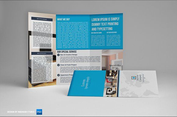 Interior Trifold Brochure Vol By Madhabi Studio On Creativemarket - Online brochures templates
