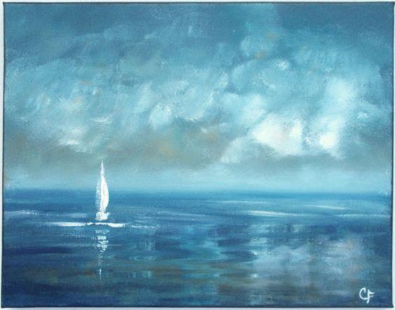 Image result for serene blue paintings sky