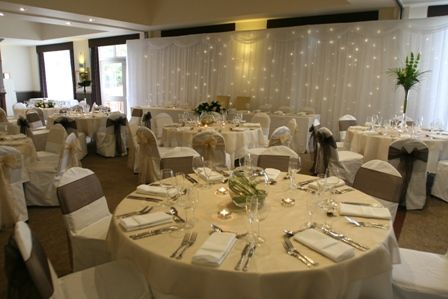 pink black and champagne chair sashes | BACKDROPS and Ceilings ...