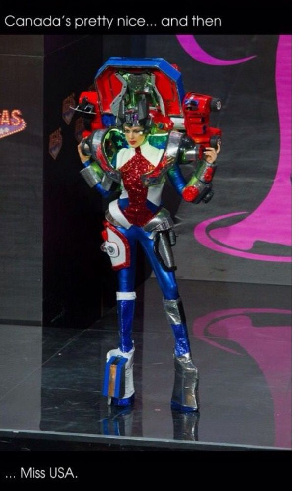 And our Mrs. USA is a transformer