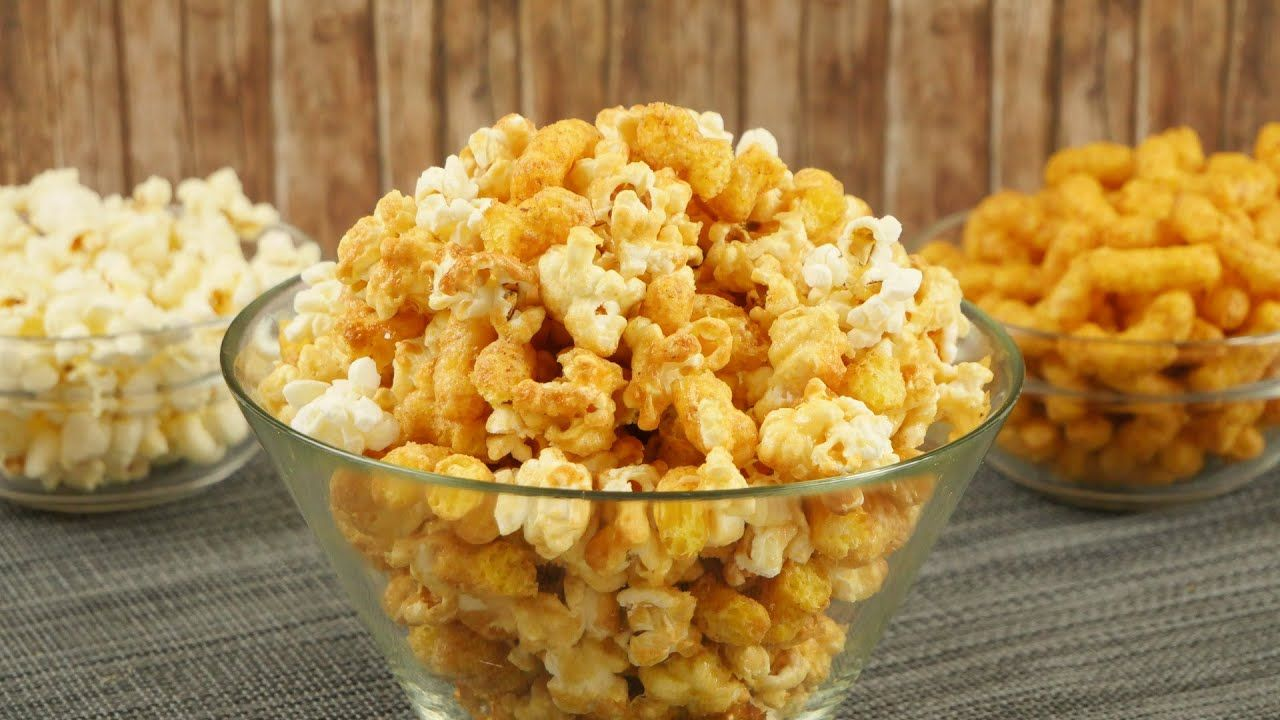 Peanut Butter Popcorn mit extra Crunch I Popcorn selber machen